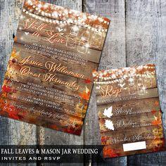 Rustic wedding invites.