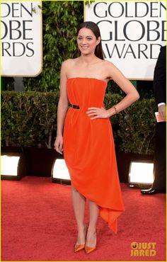Marion Cotillard - Golden Globes 2013 Red Carpet