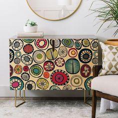 Sharon Turner Honolulu hoops cream Credenza diy home accessories Funky Painted Furniture, Recycled Furniture, Art Furniture, Furniture Makeover, Furniture Design, Furniture Vintage, Plywood Furniture, Chair Design, Design Design