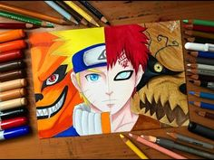 Speed Drawing - Naruto VS Gaara (Naruto Shippuden) [HD] To My Viewers: Hey guys, after a weird video now im back with our timelapse videos xD there are a lot. Naruto Gaara, Anime Naruto, Naruto Shippuden Hd, Wallpaper Naruto Shippuden, Naruto Cute, Naruto Wallpaper, Anime Boy Sketch, Naruto Sketch, Naruto Drawings