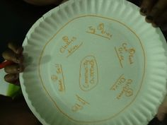 Thinking Map on paper plates
