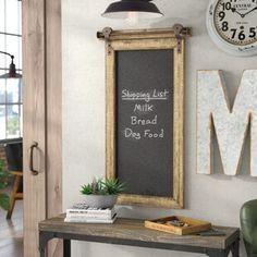 Williston Forge | Wayfair.ca Chalkboard Wall Kitchen, Chalkboard Decor, Chalkboard Walls, Black Chalkboard, Bauhaus, Burlap Wall, Magnetic Wall, Farmhouse Chic, Farmhouse Interior