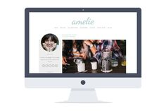 Check out Amelie - Responsive Wordpress Theme by Pankogut Design on Creative Market Blog Layout, Layout Inspiration, Amelie, Website Template, Wordpress Theme, Web Design, Graphic Design, Branding, Marketing