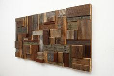 Reclaimed wood wall art 48x24x2 made of barnwood by CarpenterCraig, $420.00