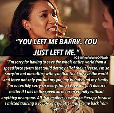 I knew I wasn't the only one who was bothered by Iris's whiny, selfish me-me-me attitude <<< why I frickin' hate Iris West. It's The Flash, not the Iris West show, so go away Iris! Dc Memes, Funny Memes, Le Flash, Dc Comics, Flash Funny, Flash Barry Allen, The Flash Grant Gustin, Snowbarry, Dc Tv Shows