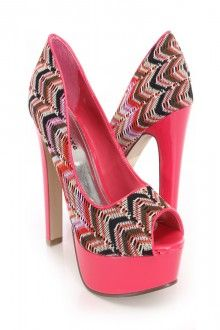 $6 for these sexy pink tribal print heels!