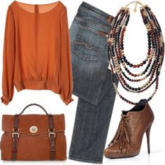 great fall look, not sold on the shoes, but would look cute with boots!