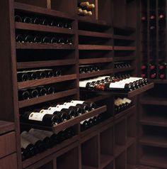 Custom Wine Cellar - Wenge Wood - 2200 Bottles - contemporary - wine cellar - other metro - by Degre 12 - Custom Wine Cellars