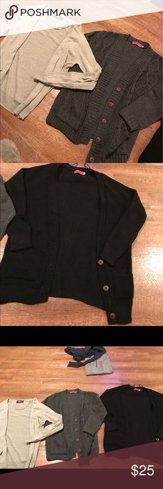 Cardigan Bundle 3 cardigans. Brands are BooHoo and H&M Boohoo Sweaters Cardigans