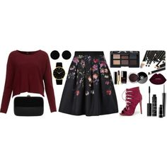 My bloodstream by leandra-rebeka on Polyvore featuring polyvore, fashion, style, Ted Baker, Bebe, Rocio, Larsson & Jennings, AeraVida, NARS Cosmetics and MAC Cosmetics