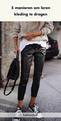 Black Leather Pants To Wear This Fall 2019 Black Leather Pants To Wear This Fall 2019 Comfy Fall Outfits, Cute Lazy Outfits, Basic Outfits, Winter Fashion Outfits, Mode Outfits, Unique Outfits, Fashion Pants, Casual Outfits, Outfit Winter
