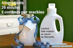 Grâce à cette recette maison, vous allez pouvoir fabriquer votre propre lessive et laver votre linge plus économiquement.  Découvrez l'astuce ici : http://www.comment-economiser.fr/astuce-lessive-laver-linge-machine-savon-marseille.html?utm_content=bufferda926&utm_medium=social&utm_source=pinterest.com&utm_campaign=buffer