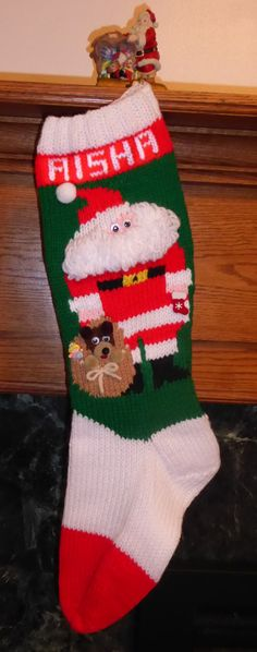 knitted christmas stocking pattern ho ho ho