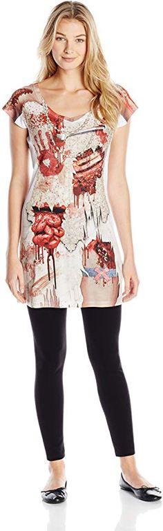 Amazon.com: Faux Real Women's 3D Photo-Realistic Short Sleeve Halloween Dress: Clothing Zombie Costume Women, Costumes For Women, 3d Photo, Halloween Dress, Real Women, Branded T Shirts, Fashion Brands, Peplum Dress, Topshop