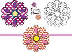 Here is a set of 3 Funky Flower Clips in the colors that are posted on the cover.Please Note: Many of these will work best on a White background.Enjoy! This is what it reads on the credit sheet in the download:Created by Karen L.S.You may use for personal AND commercial purposes.