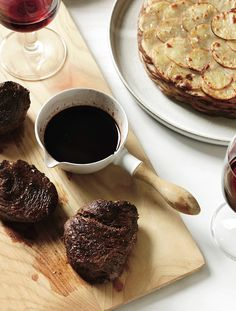 Bison Steaks with Fig-Balsamic Sauce // America's Best Steaks: http://www.foodandwine.com/slideshows/best-steak-in-the-us #foodandwine