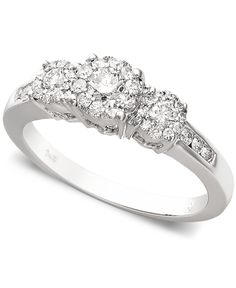 Prestige Unity Diamond Engagement Ring (1/2 ct. t.w.) in 14k White Gold