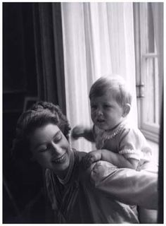 Queen Elizabeth and Prince Charles.  I adore this photo!