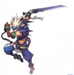 Good color palette, good action shot -Z  Dungeon Fighter Online Concept Art - Slayer