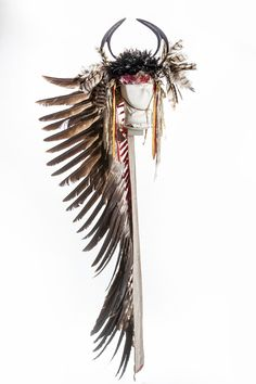 Sioux bonnet belonged to Shoots Holy.  Fruitlands Mus  ac