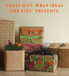 5 easy gift-wrap ideas for kids' presents « Growing Spaces