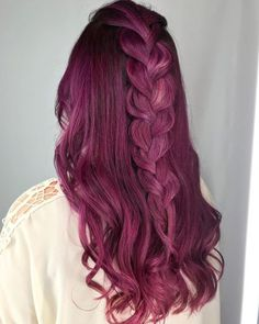15 Best Maroon Hair Color Ideas of 2019 – Dark, Black & Ombre Colors Hot Braided Dark Red Grape Hair Color Maroon Hair Colors, Dark Purple Hair Color, Red Violet Hair, Violet Hair Colors, Dark Red Hair, Hair Color Auburn, Cool Hair Color, Hair Colour, Sunset Hair