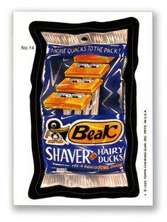 Wacky Packages Topps 1985 Series: Beak Shaver - #14
