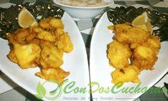 ConDosCucharas.com Tapa de rejo en tempura - ConDosCucharas.com Tempura, Meat, Chicken, Ethnic Recipes, Food, Appetizer Recipes, Ethnic Food, Essen, Meals