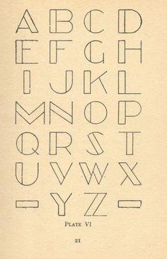 Alphabet // idée pour broder/point de croix