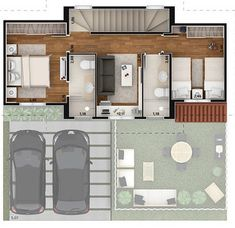 Dream House Plans, Small House Plans, House Floor Plans, Sims House Design, Small House Design, Home Bar Designs, Home Design Plans, Mexico House, Apartment Floor Plans
