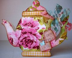 teapot shaped card