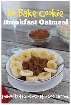 No Bake Cookie Breakfast Oatmeal...your favorite peanut butter and chocolate cookie in a healthy breakfast form #todaysmama #utahmama