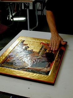 Olifa – Linseed Oil Varnish for the Egg Tempera Icon — Saint Gregory of Sinai Monastery Monastery Icons, Greek Icons, Saint Gregory, Linseed Oil, Orthodox Icons, Tempera, Book Binding, Mosaic, Painting