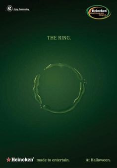 Heineken - Valentine's Day - The Ring Ads Creative, Creative Advertising, Marketing And Advertising, Advertising Campaign, Beer Commercials, Pub Design, Halloween Poster, Beer Humor, Fall Is Here