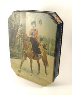 Vintage Biscuit Tin Princess Elizabeth Colonel of the Grenadier Guards London England. $19.00, via Etsy.