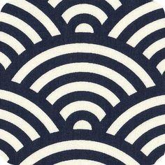 Tissu japonais Kyoto marine Motifs Textiles, Japanese Patterns, Wave Design, Surface Pattern Design, Kyoto, Painted Rocks, Art Nouveau, Art Projects, Kawaii