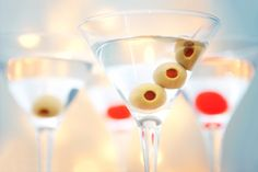Santa's hot and dirty martini- •3 ounces Voli Lyte vodka •1 ounce olive Juice •Dash of Tabasco sauce •Olives for garnish