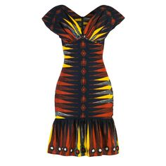 Makonga Dress african sunset - Lena Hoschek Online Shop African Print Dress Designs, African Print Dresses, African Wear, African Attire, African Fashion Dresses, African Women, African Dress, Fashion Outfits, Ankara Designs
