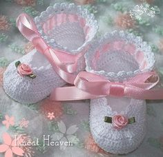 Boutique Crochet Little Lady Baby Booties - Kneat Heaven Boutique -