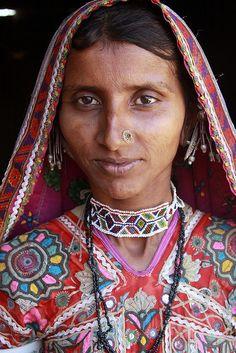 India - gujarat    Hodka village - Harijan or Meghwal tribal people.