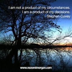I am a product of my decisions - Nozomi Morgan