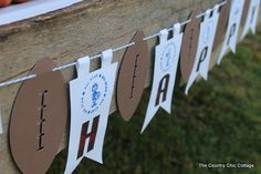 Sports Themed Birthday Party ~ * THE COUNTRY CHIC COTTAGE (DIY, Home Decor, Crafts, Farmhouse)