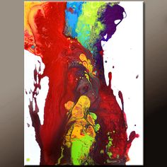 Abstract Art Painting on Canvas  18x24 Contemporary by wostudios, $69.00