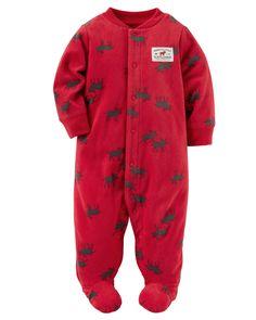 Baby Boy Fleece Zip-Up Sleep & Play | Carters.com