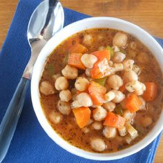 An Italian soup, filled with chick peas and fresh vegetables. Easy, healthy and delicious.