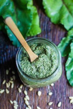 This Beet Greens Pesto is a fun and unique way to use those beet greens which are PACKED with nutrients. Serve over pasta, on toast, or however you wish!