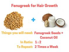 Fenugreek for Hair Growth with Coconut Oil: How to Use - Modern Bald Hair Growth, Hair Mask For Growth, Hair Growth Treatment, Hair Growth Tips, Hair Treatments, Coconut Oil Hair Treatment, Coconut Oil Hair Growth, Oil For Curly Hair, Hair Oil