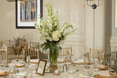 Elegant, classic, white and gold wedding at Park Hyatt Beaver Creek, CO.