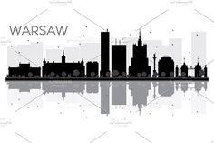 #Warsaw #City #skyline by Igor Sorokin on @creativemarket