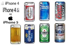 Apple iPhone 4 / 4s Beer Can Case by CreativeCustomPrints on Etsy, $16.98